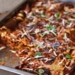 Billig vegetarisk lasagne