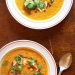 Linssoppa på sötpotatis och morot