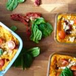 Morotslasagne med fetaost och soltorkad tomat