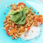 Nudelwok med asiatiska smaker (och mindre kött)