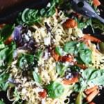 Pastaplåt med ugnsrostade grönsaker
