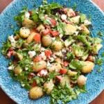 Potatissallad med belugalinser