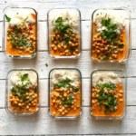 Kikärtsgryta i röd currysås som ger många matlådor