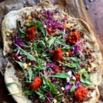 Vegetarisk tacopizza