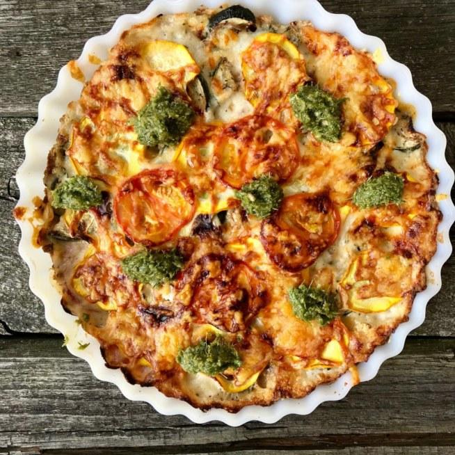 vegetarisk paj zucchini