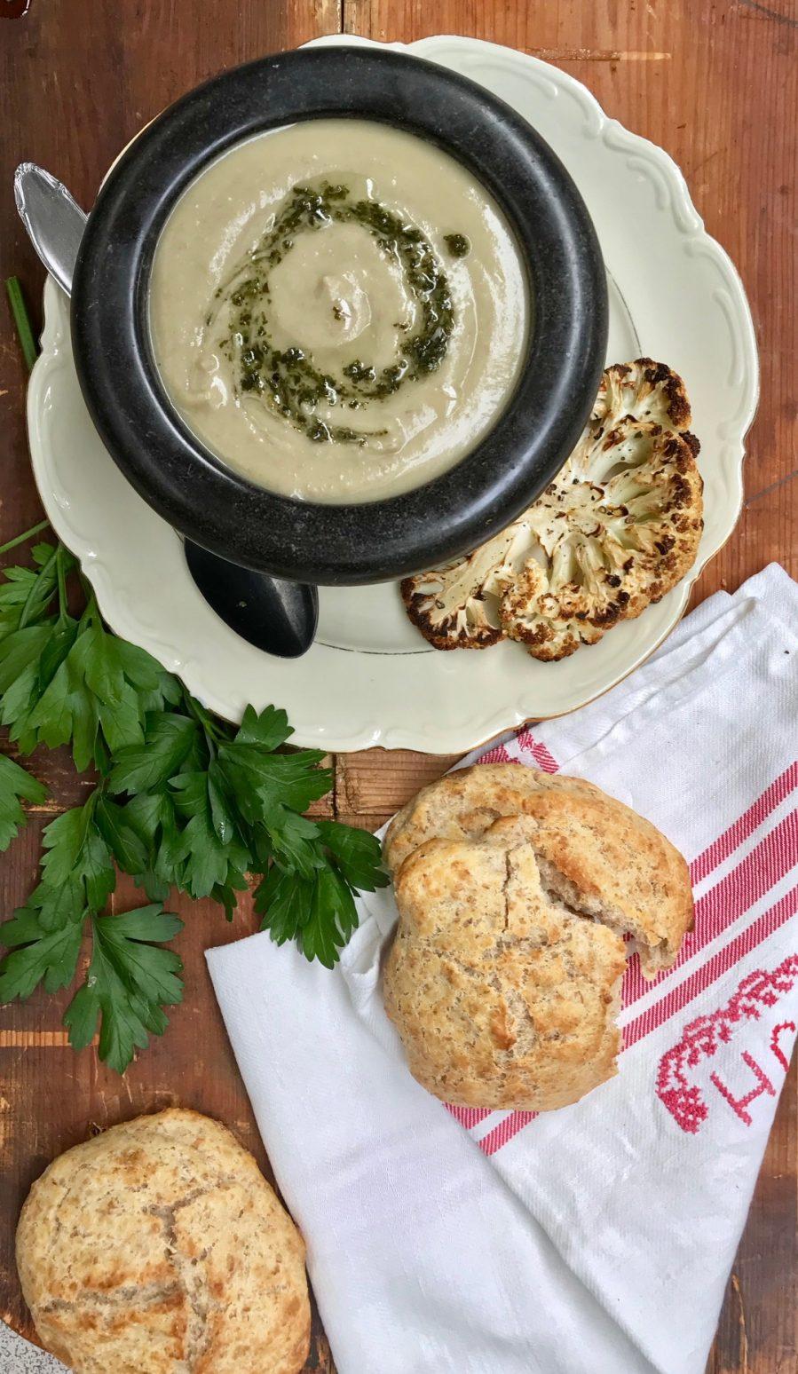 blomkål potatis soppa