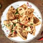 Bolognese och majskräms quesadillas