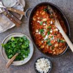One pot med tomat, vita bönor, ris och persilja